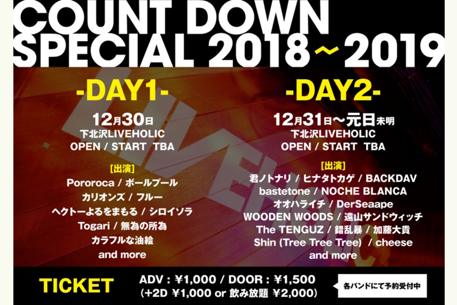 COUNT DOWN SPECIAL 2018→2019 -DAY2-