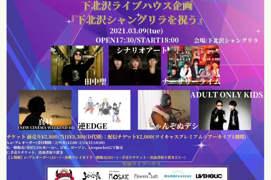 下北沢ライブハウス企画 『下北沢シャングリラを祝う』※下北沢シャングリラで開催です